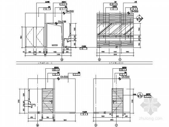 [佛山]高档社区核心居住区售楼处设计装修图立面图
