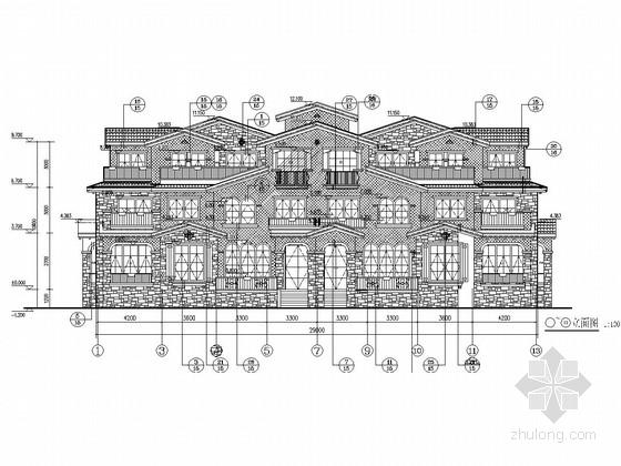 1500平三层异形柱框架结构住宅结构施工图(含建筑图)