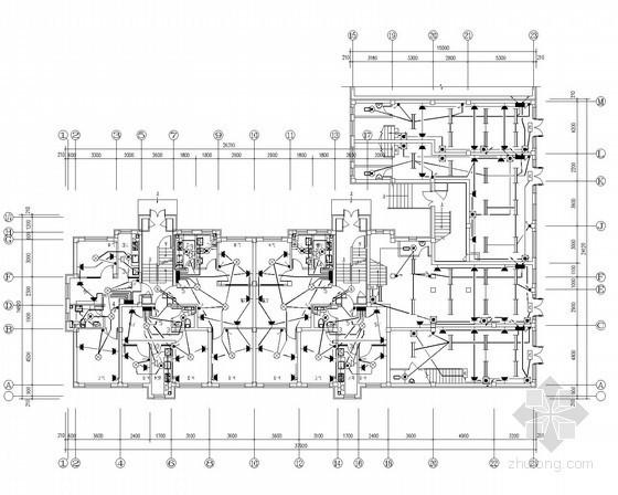 五层住宅小区全套电气施工图纸