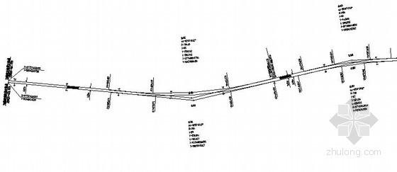 昆明某机场综合交通配套工程地铁隧道平面设计图
