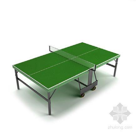 vray材质球素材资料下载-乒乓球桌2