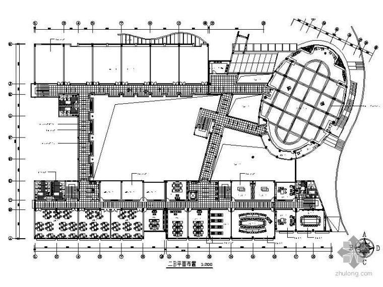 [重庆]某学院艺术学院综合大楼平面图