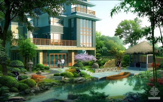 某别墅景观设计图