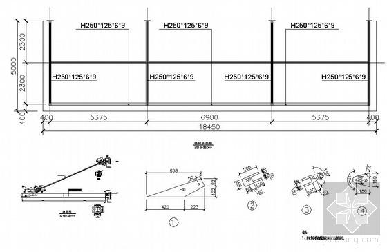 某钢雨棚结构设计图