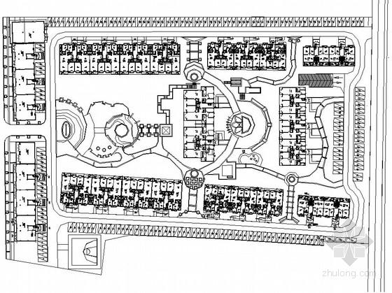 [都江堰]高档住宅小区中庭庭院园建工程施工图