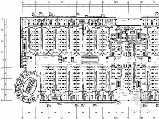 [山东]商贸物流城空调通风全套设计施工图(含投标文件、负荷计算表)