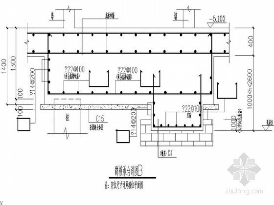 人工挖孔桩基础桩身及配筋设计图