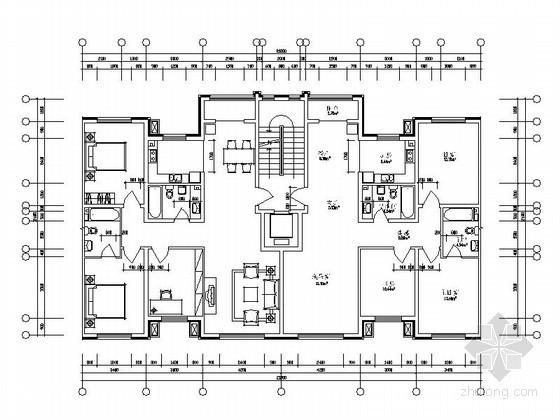 某板式小高层住宅户型图(125/125)