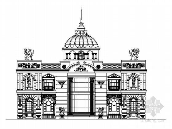 某二层欧式会所建筑方案图(含效果)
