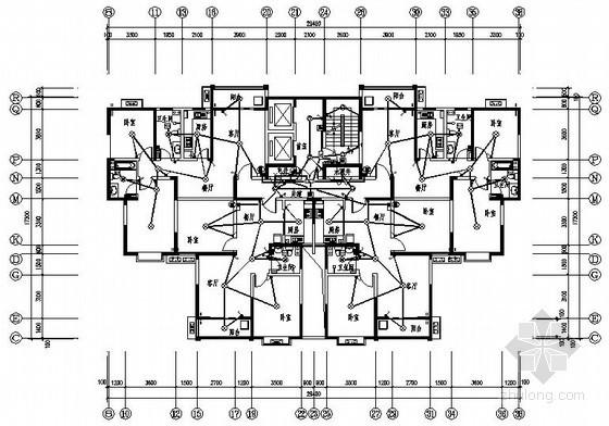 [西安]某十六层商住楼电气图纸