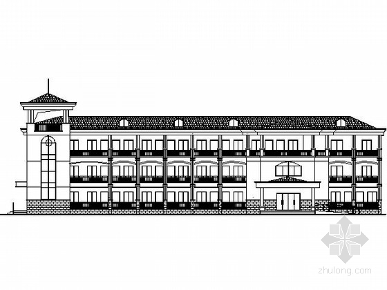 某四层养老院建筑扩初图