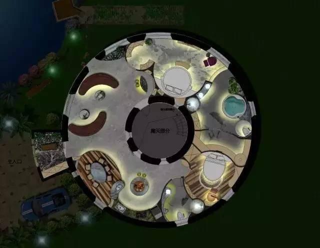 深度解析!一个圆形户型的15个高超方案!_8