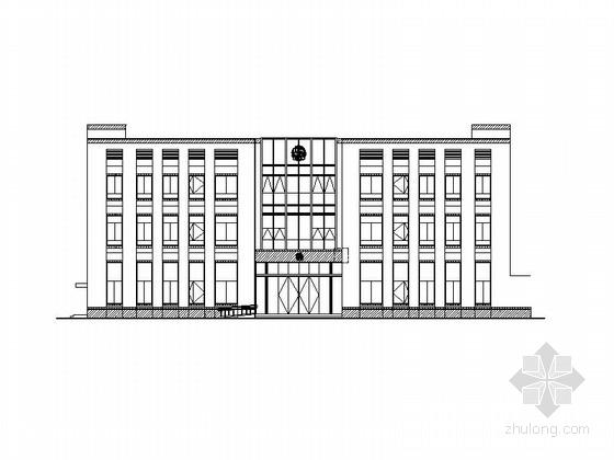 [浙江]现代风格派出所及法庭建筑施工图(2015年07月图纸)