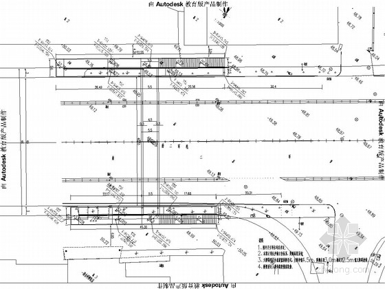 51米提篮式系杆拱桥(天桥)施工图29张
