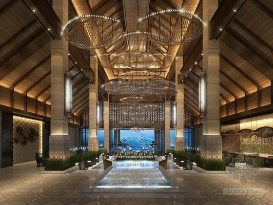[三亚]热带滨海城市典雅新中式风情接待中心设计方案