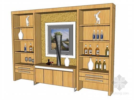 酒柜SketchUp模型下载
