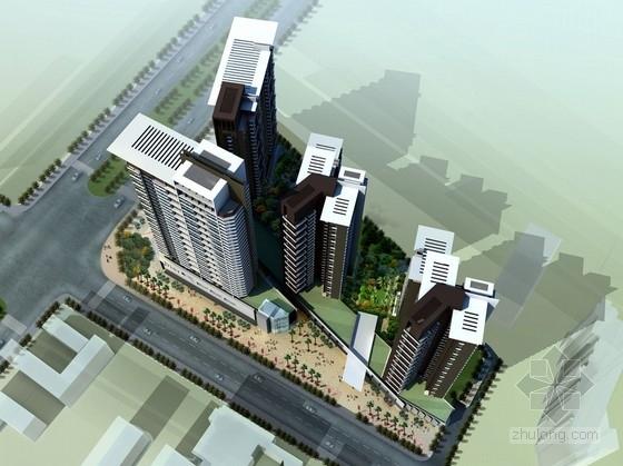 [安徽]24层现代风格商业办公楼建筑设计方案文本(国外知名事务所)
