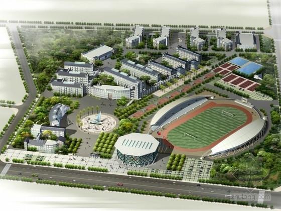 [四川]中学校区规划及单体设计方案文本(含CAD)