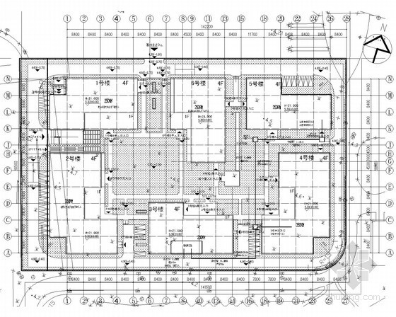 [上海]大型工业厂房全套电气施工图纸140张(含审图意见)