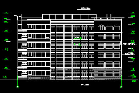 某中学高中教学楼建筑施工图