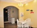 韩式田园风格二居室住宅室内装修设计实景图