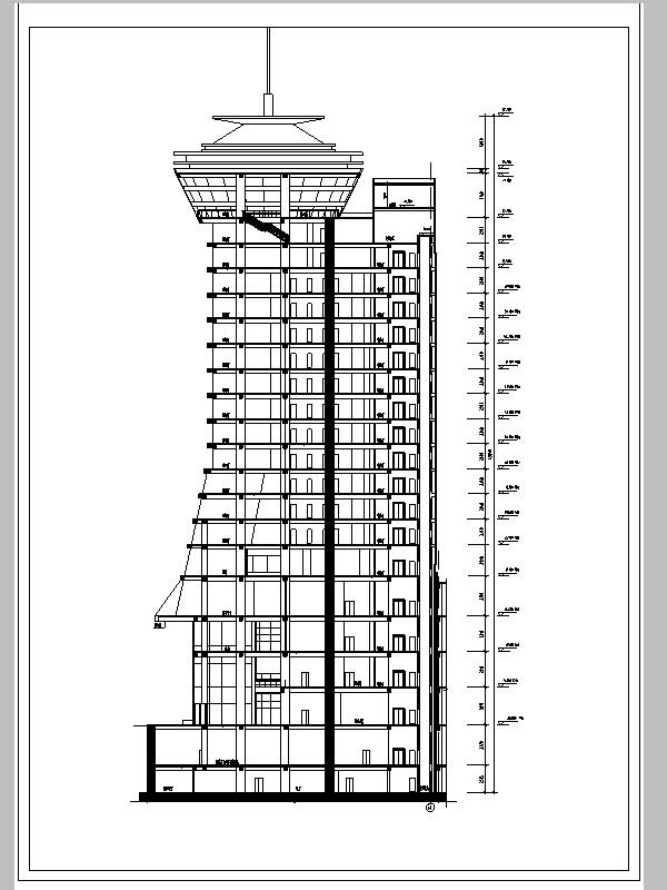 3套四星級酒店建筑設計方案施工圖CAD