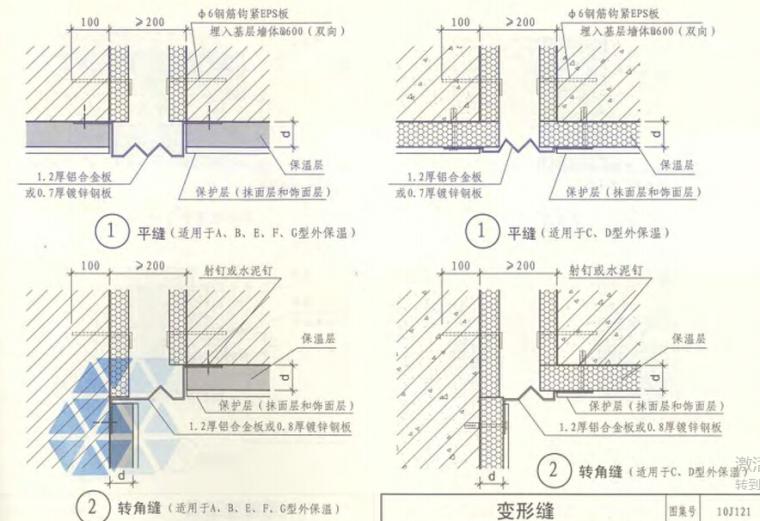 10J121外墙外保温建筑构造_3