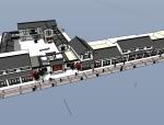 中式精品商业街模型设计