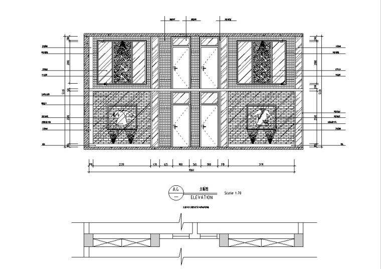 [南充]中式风酒楼设计施工图(含效果图)_3