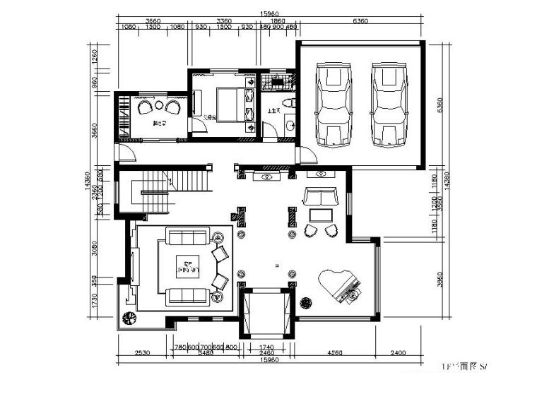 [苏州]新中式温馨别墅设计施工图(含效果图)