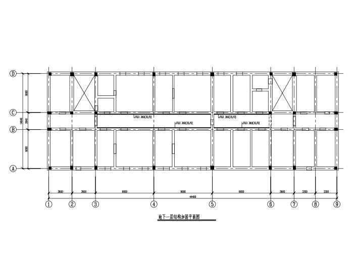[北京]4层砖混结构小学教学楼抗震加固施工图(CAD、11张)