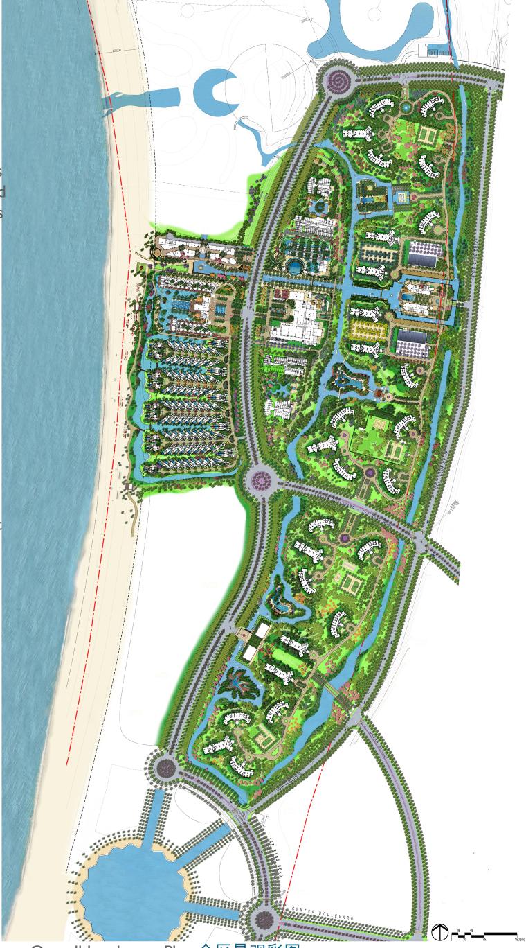 [海南]龙沐湾国际旅游度假村方案设计-全区总平面图