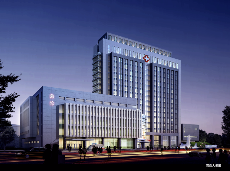 [江苏]如皋人民医院建筑设计方案文本(JPG+CAD)