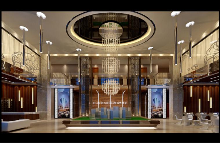 [厦门]时尚奢华高端大气售楼处室内设计施工图(含效果图)_7