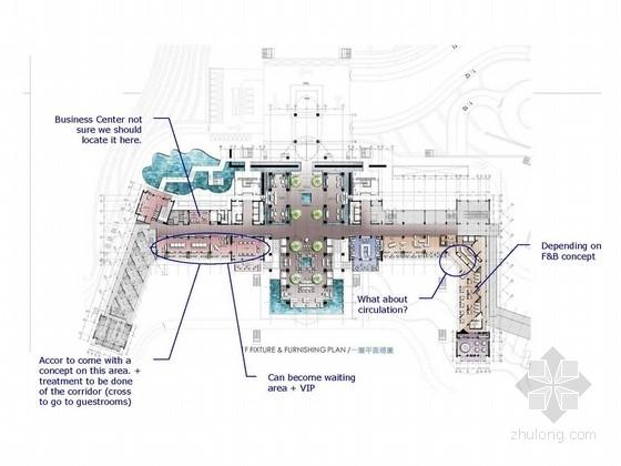 [海南]夏日度假五星级酒店设计方案图