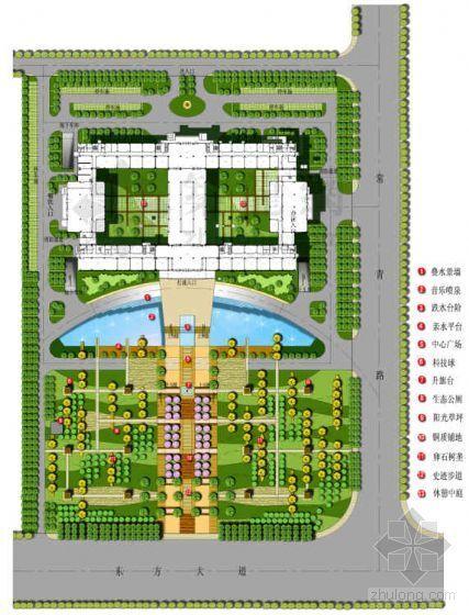 [江苏常州]服务中心市民广场景观设计方案