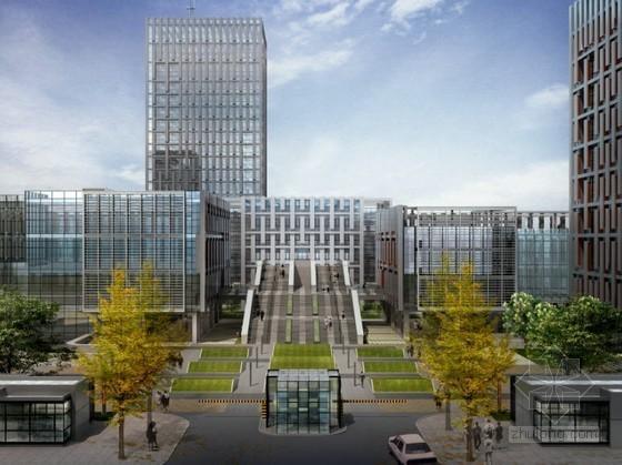 [上海]某办公楼周边环境设计效果图