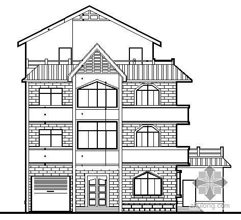 某四层独立别墅建筑施工图