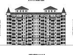 [内蒙古]高层对称式布局坡屋顶住宅楼建筑施工图