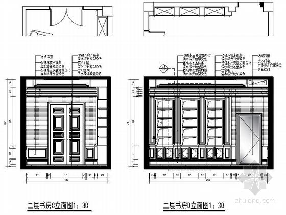 [保定]新古典主义奢华三层别墅室内装修施工图宁波6良工别墅轻钢图片