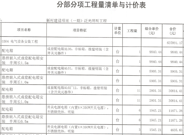 [浙江]住宅区泛光照明工程量清单招标控制价编制实例(工程造价咨询报告书,施工图纸)
