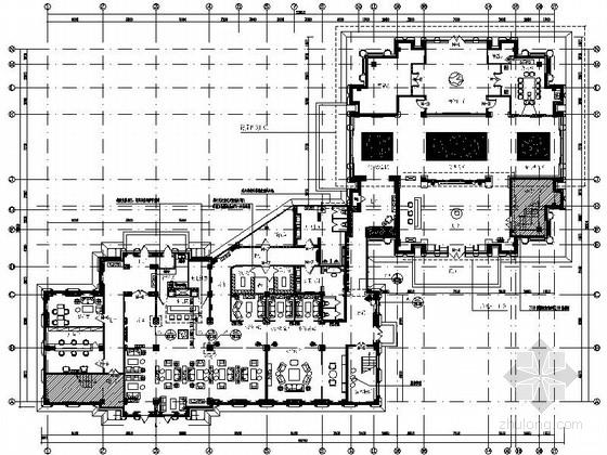 [黑龙江]创意产业园现代风格售楼处室内装修施工图(含方案)