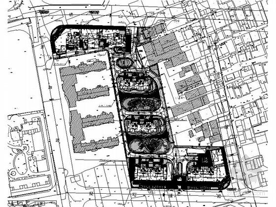 [温州]温馨居住区城建景观绿化设计施工图