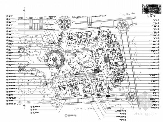 [广州]居住区城市花园景观全套施工图