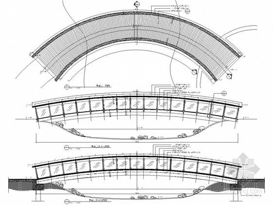 [浙江]细致典雅艺术居住区景观施工图(图纸丰富)-特色景桥施工图