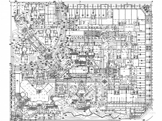 [福建]生态宜居小区景观设计施工图(知名设计单位)