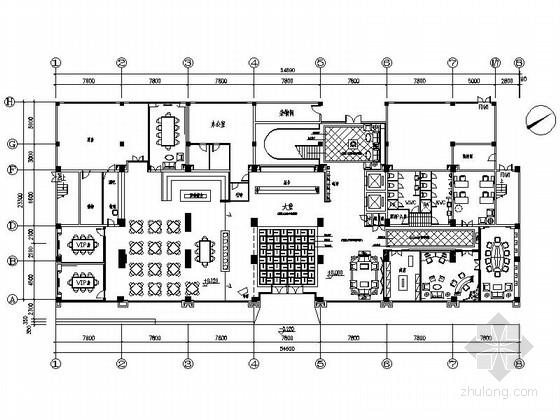[东莞]综合性企业集团现代四星级商务休闲酒店装修施工图