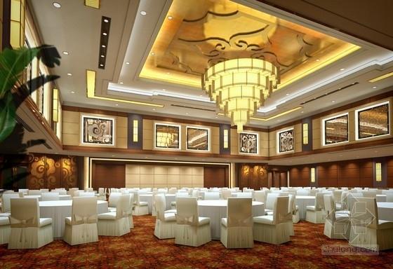 [宜昌]经济开发区核心地带五星级商务酒店方案设计 中餐厅效果图