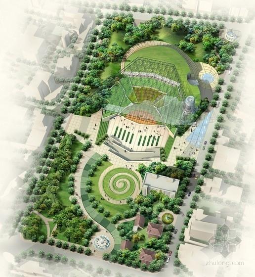 [上海]文化广场规划及单体设计方案文本(含三种方案)