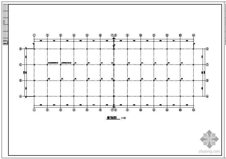 某27m跨钢结构屋面设计图